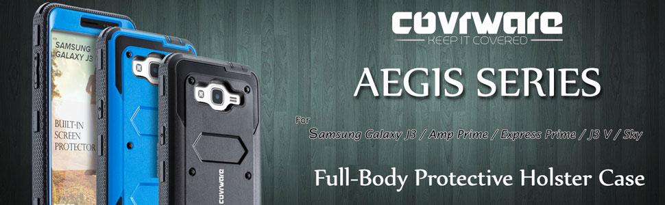 Details about COVRWARE® [AEGIS] Full-Body Armor Holster Case w Screen For  Galaxy J3 / J3 V