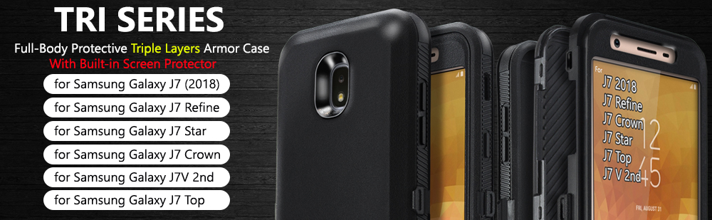 Details about Galaxy J7 2018 / J7 Star / J7 Crown COVRWAE 3 layer Armor  Case Screen Protector